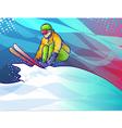 Ski Jump vector image