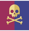 Skull and crossbones vector image vector image