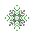 snow flake isolated icon vector image