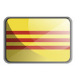 south vietnam flag on white background vector image