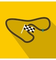 Speedway icon in flat style vector image vector image