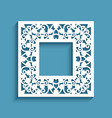 square frame with lace border pattern vector image