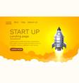 start up idea landing page screen development vector image