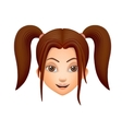 The girls face brunette vector image
