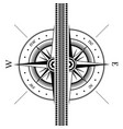 tire track and wind rose vector image vector image