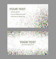 Triangle mosaic business card template set vector image vector image