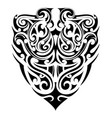 tribal tattoo shape vector image vector image
