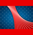 usa colors and stars abstract bright wavy vector image vector image