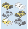 Vintage taxis vector | Price: 1 Credit (USD $1)