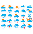weather sign symbol set color vector image vector image
