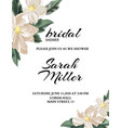 wedding nature template with tender flowers and vector image vector image