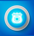 white police badge icon sheriff badge sign vector image vector image