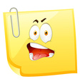 Yellow paper with shocking face vector image vector image