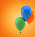 Childrens party colorful balloons vector image