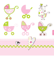 Baby buggy design elements vector image