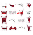 comic mouth set vector image