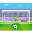 soccer goalkeeper of a vector image