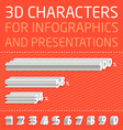 3D Numbers for infographics vector image vector image