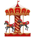 A carousel ride with horses vector image vector image