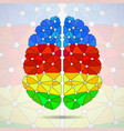 abstract geometric human brain from vector image vector image
