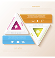 Abstract infographic design with triangles vector image vector image
