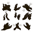 applause set clapping vector image