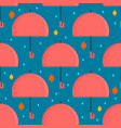 autumn umbrella seamless pattern vector image vector image