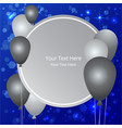 balloons sale business template vector image vector image