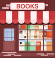 books shop facade background building vector image