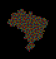 Brazil color dot map Abstract style vector image