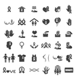 cancer icons vector image vector image