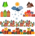 Christmas set of images vector image