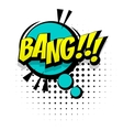 Comic blue sound effects pop art word bang vector image