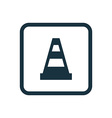 construction cone icon Rounded squares button vector image