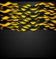 Contrast orange black corporate wavy background vector image