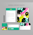 corporate identity business set modern stationery vector image vector image