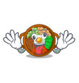 crazy plate containing bibimbap cartoon on table vector image vector image