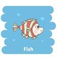 Cute cartoon Fish vector image vector image