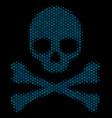 death skull mosaic icon of halftone spheres vector image vector image