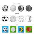design of sport and ball sign collection vector image