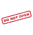 Do Not Open Text Rubber Stamp vector image vector image