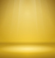 Empty Yellow Stage vector image vector image