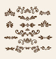 floral elements for decoration set vector image vector image