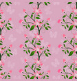 floral seamless in pink color abstract pattern vector image vector image