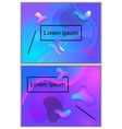 futuristic abstract with blue pink gradient vector image
