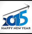 Happy new year greeting 2015 vector image