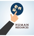 Human resources design people icon employee vector image vector image