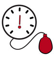 icon and symbol of a simple blood pressure vector image