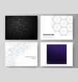layout presentation slides design vector image vector image