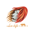 lion head design vector image